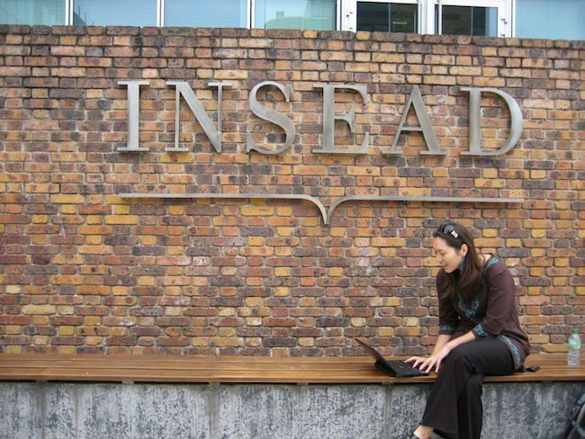 INSEAD girl studying